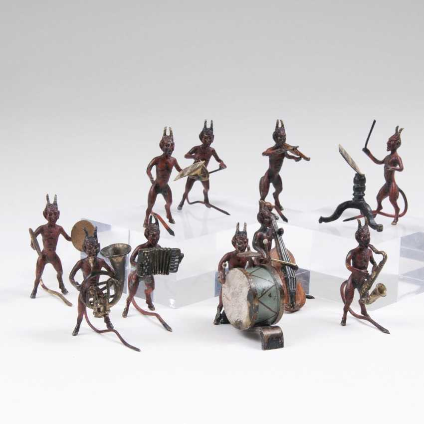 Set of 10 Viennese bronzes 'devil's chapel' - photo 1
