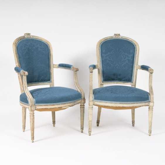 Pair Of Louis XVI Armchairs - photo 1