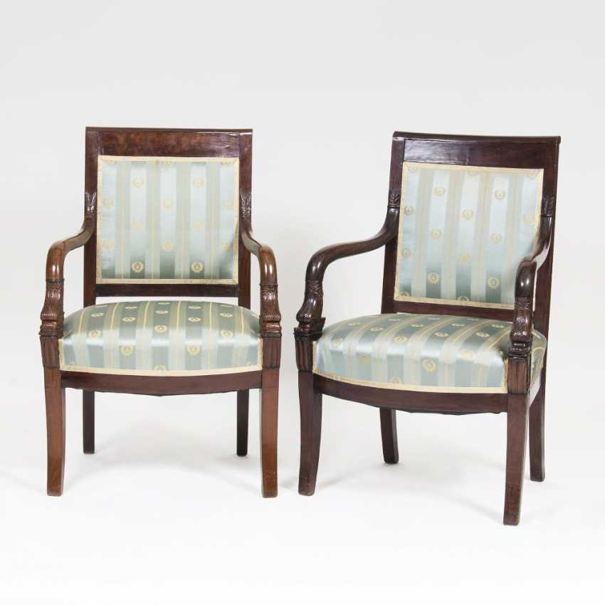 Pair of Biedermeier armchairs with Dolphin decor - photo 1