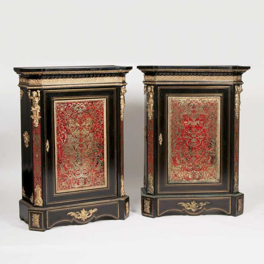 Rare Pair of Napoleon III Boulle cabinets and a Half - photo 1