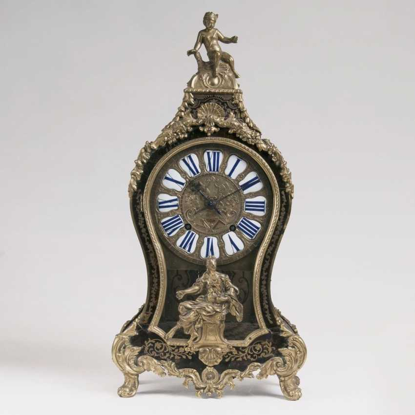 Napoleon III pomp pendule with allegory and Sartyr-figure - photo 1