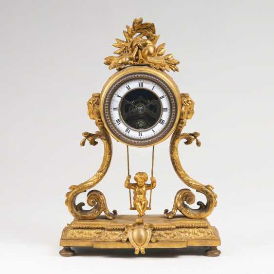 Napoleon III Pendule 'Schaukler' with Putto figure - photo 1