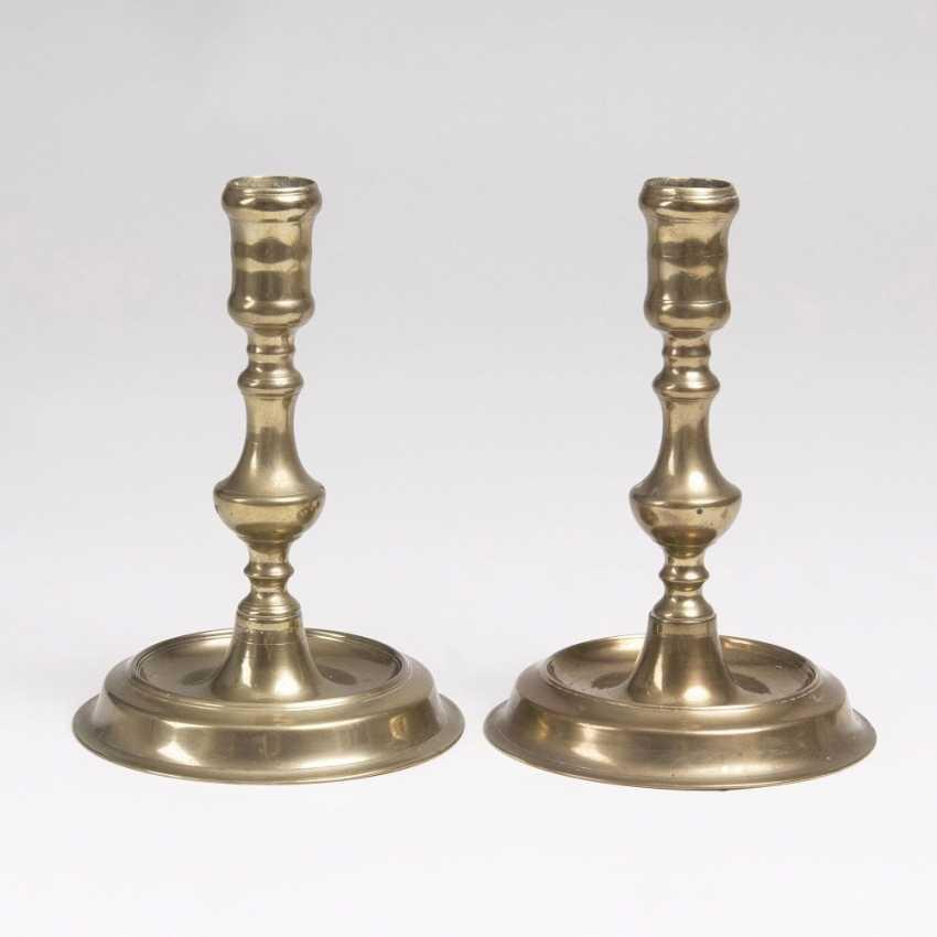 Pair of Baroque Bronze candlesticks - photo 1