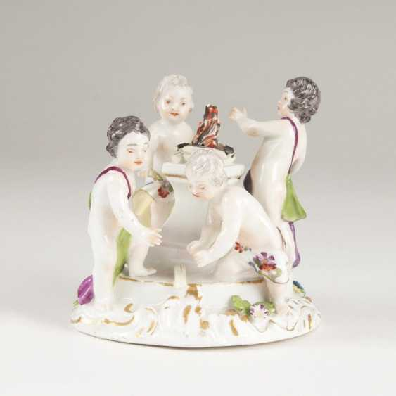 Little cupids group 'allegory - the fire' - photo 1