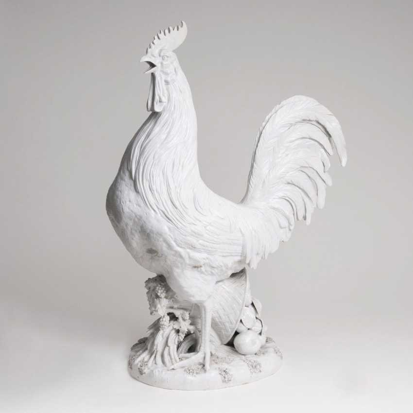 Large and imposing figure 'Paduan rooster' after Kaendler - photo 1