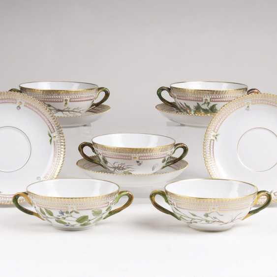 Set of 5 'Flora Danica' soup cups - photo 1