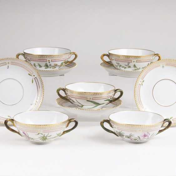 Set of 5 'Flora Danica' soup cups - photo 1