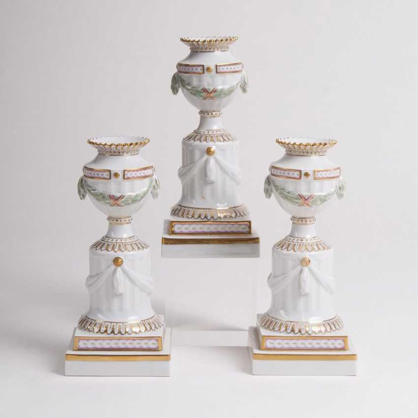 Set of 3 'Flora Danica' - candle holders - photo 1