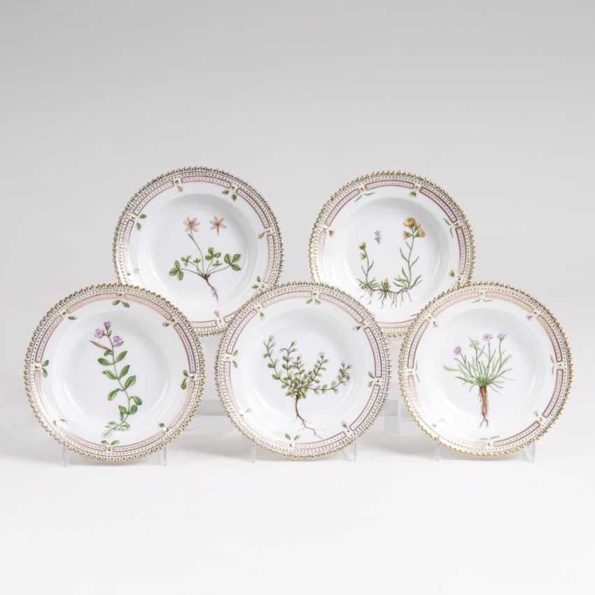 Set of 5 'Flora Danica' - a side dish bowls - photo 1