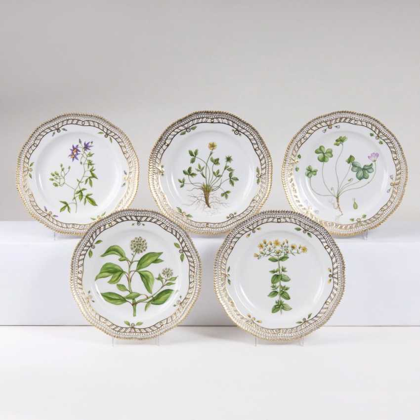 Set of 5 perforated 'Flora Danica' - appetizer plates - photo 1