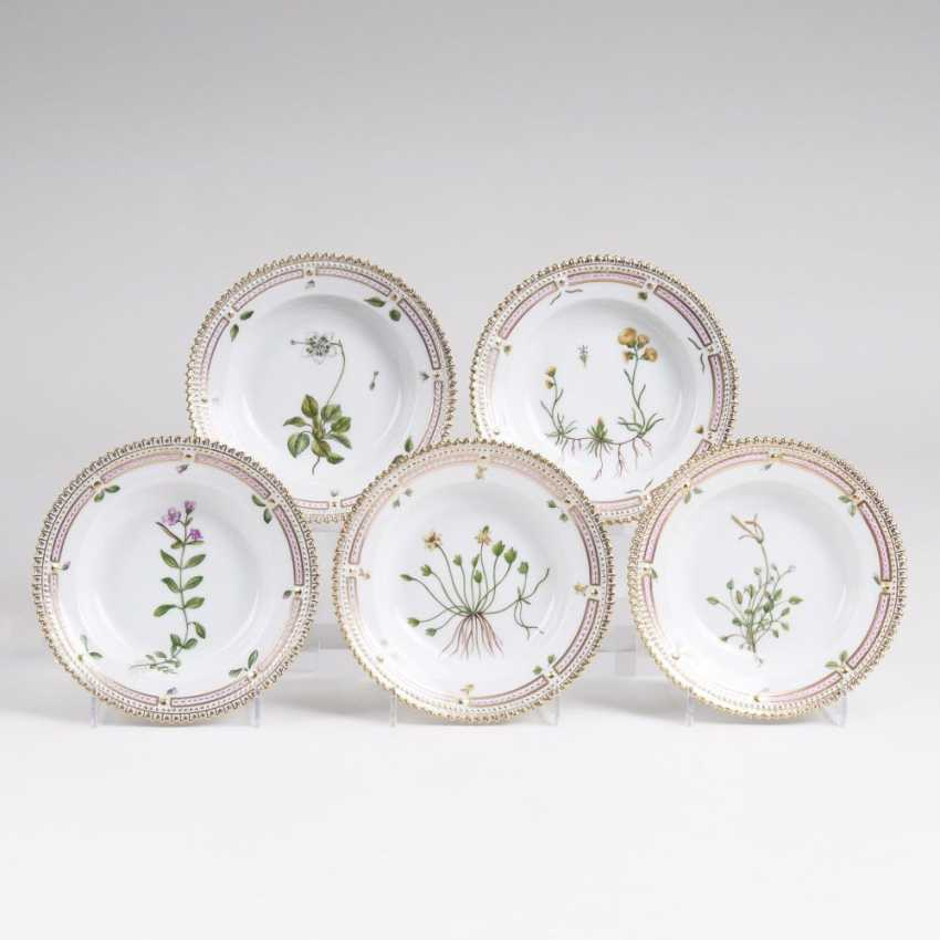 Set of 5 'Flora Danica' - a side dish bowls - photo 1