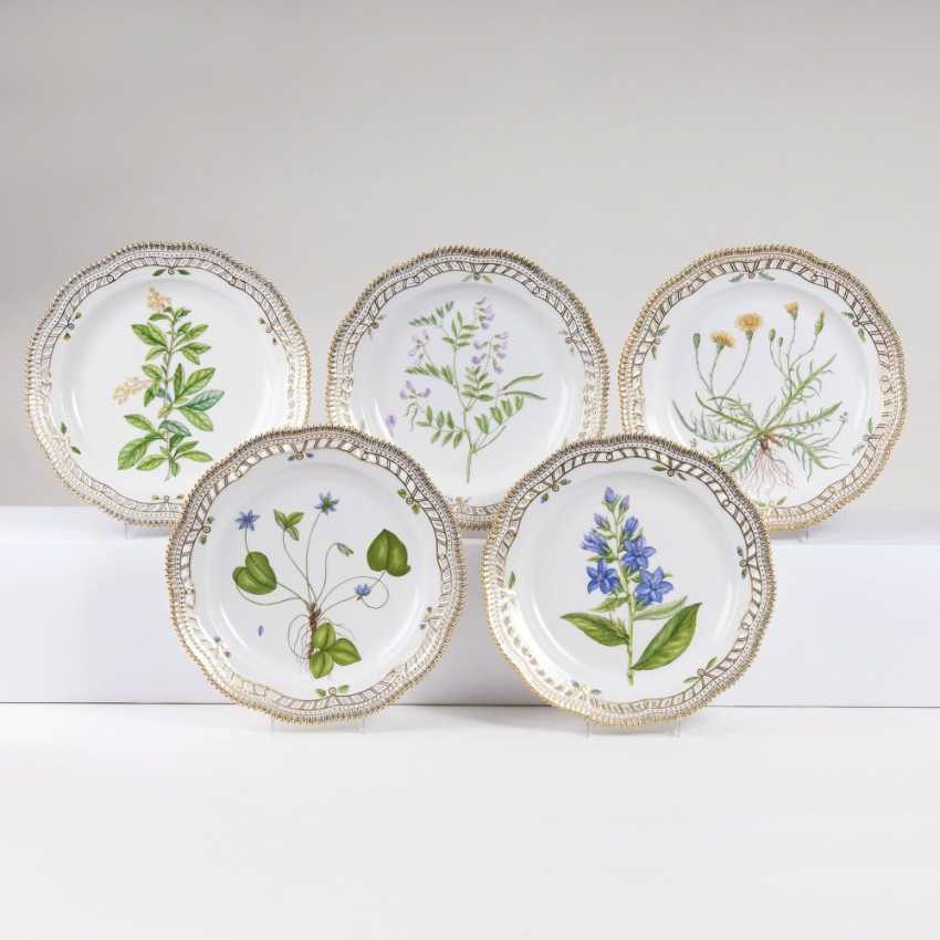 Set of 5 perforated 'Flora Danica' - plates - photo 1