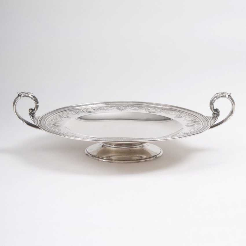 Tazza footed bowl with floral decor - photo 1