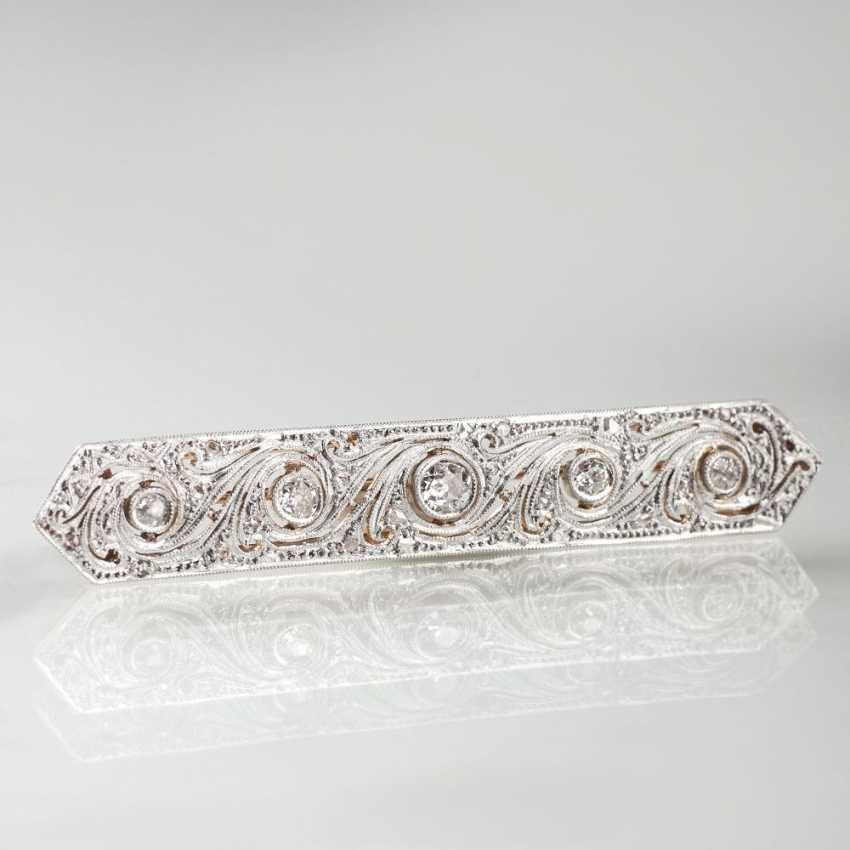Art Nouveau Diamond Brooch - photo 1