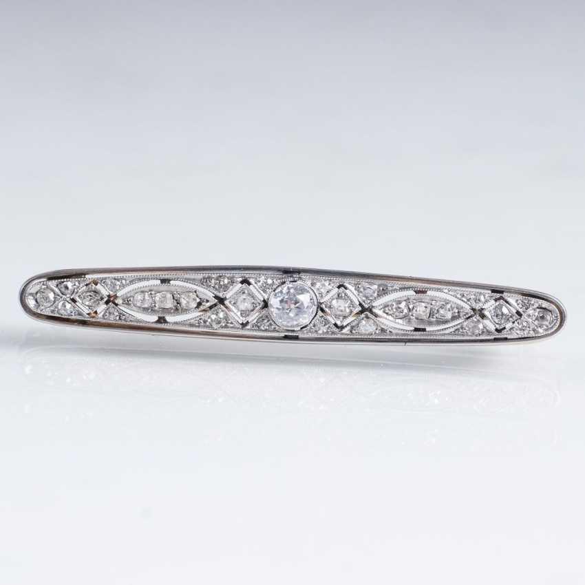 Art Nouveau Diamond Brooch - photo 1