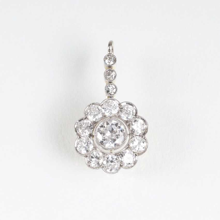 Small Art Deco diamond pendant - photo 1