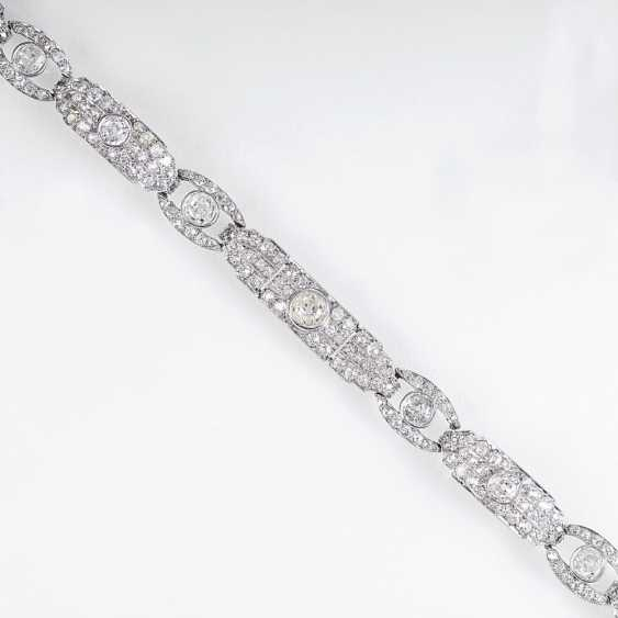 High-carat Art Deco bracelet with old European cut diamonds - photo 1