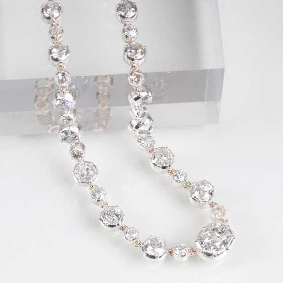 Outstanding, high-carat old European cut diamond necklace - photo 1