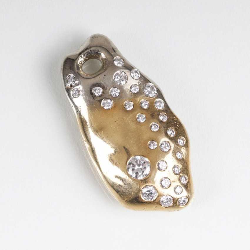 Modern, massive Gold and diamond pendant - photo 1