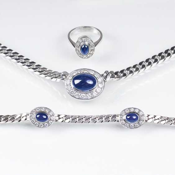Saphir-Brillant-jewelry: necklace, bracelet, and Ring - photo 1