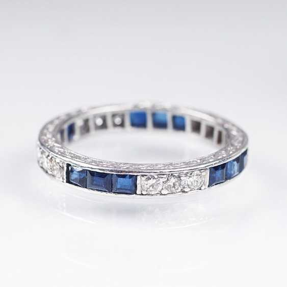 Vintage Saphir-Brillant-Memory-Ring - photo 1