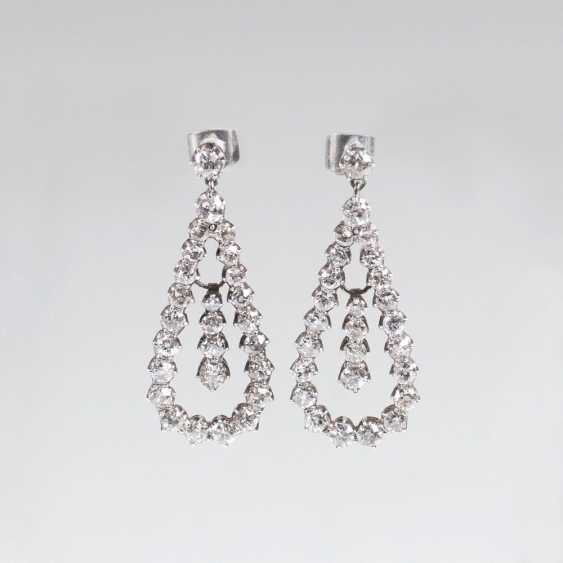 Pair of earrings with old European cut diamonds - photo 1