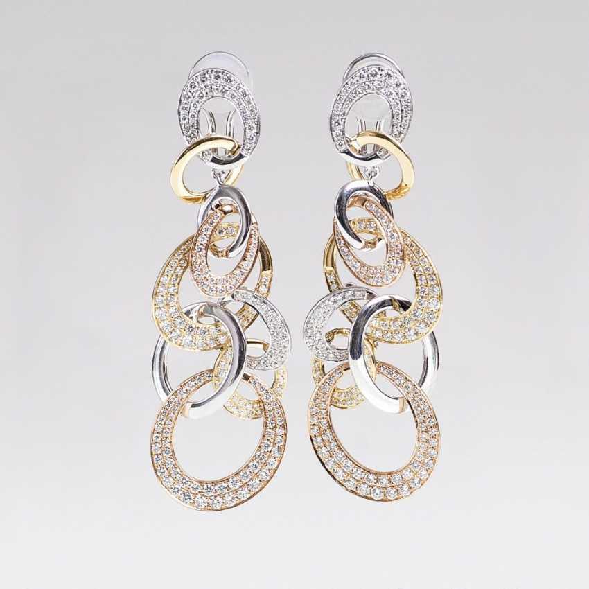 Pair of brilliant earrings in Multicolour Design - photo 1