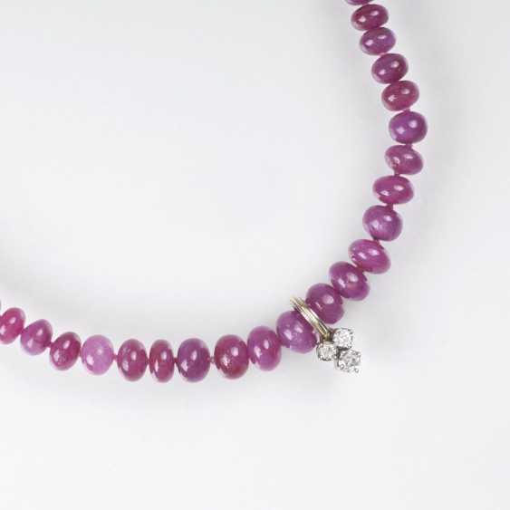 Ruby chain with small brilliant-Clip - photo 1