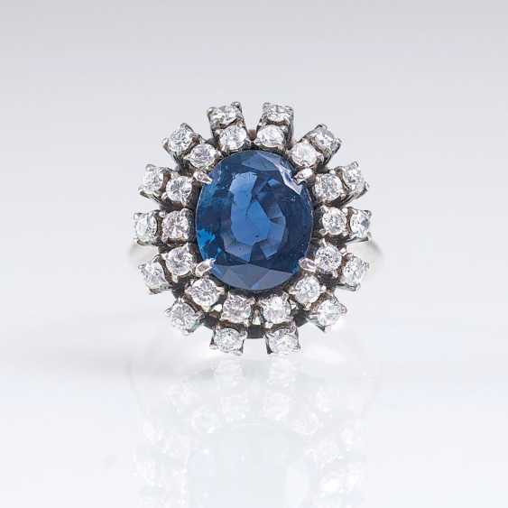 Vintage Saphir-Brillant-Ring - photo 1