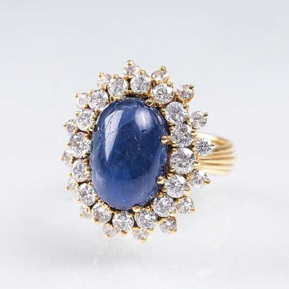 Vintage Saphir-Brillant-Ring - photo 1