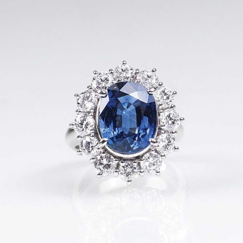 Fine Sapphire And Diamond Ring - photo 1