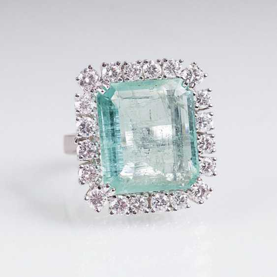 Vintage Smaragd-Brillant-Ring - photo 1