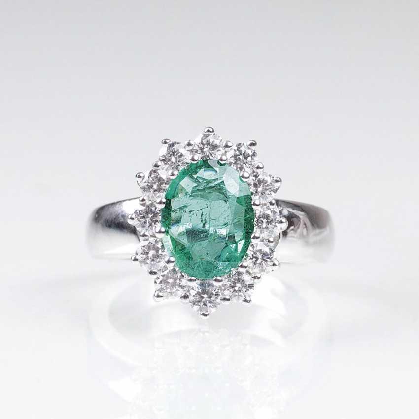Smaragd-Brillant-Ring - photo 1