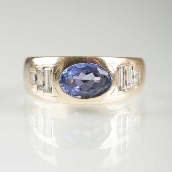 Tansanit-Diamant-Bandring - photo 1