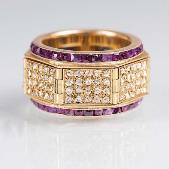 Diamant-Rubin-Bandring 'Bonheur-Glücksring' - photo 1