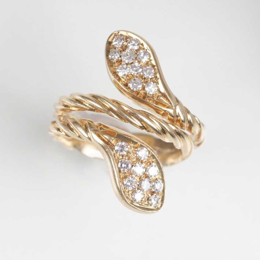 Diamant-Ring 'Schlange' - Foto 1