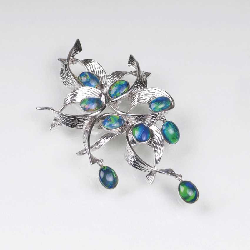 Opal-Brosche 'Blütenbouquet' - photo 1