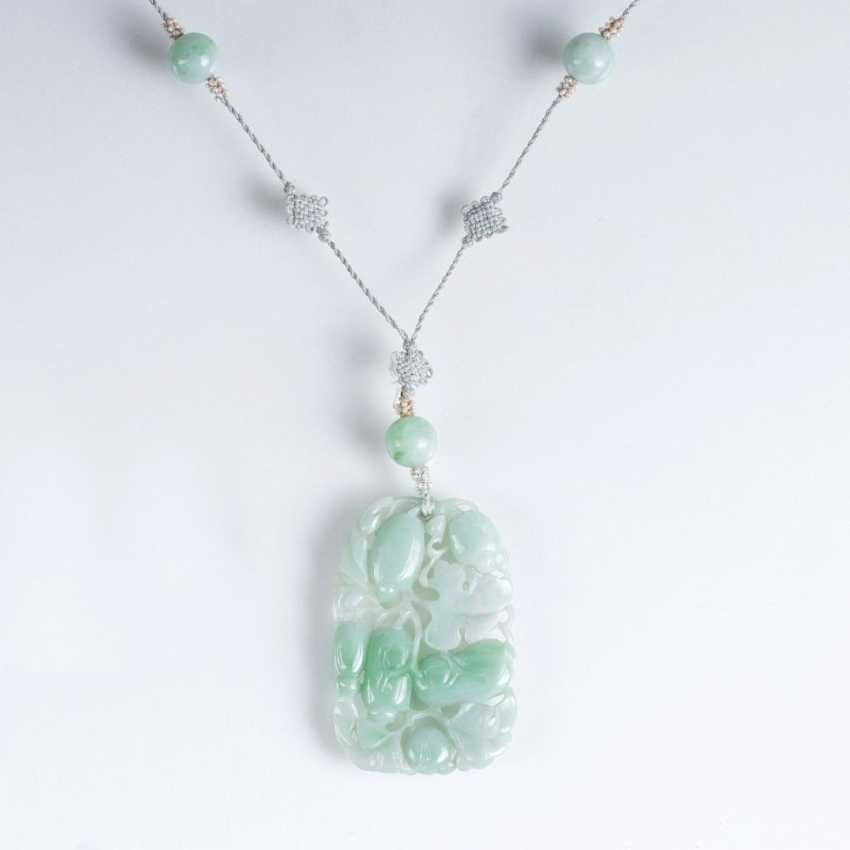 Seltenes Art deco Jade Necklace - photo 1