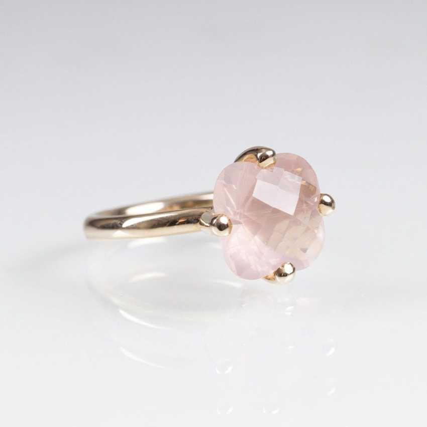 Modern Rose Quartz Ring - photo 1