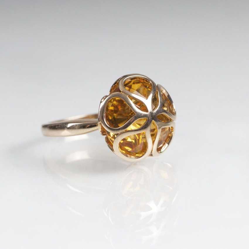 Citrine Ring in clover leaf socket - photo 1