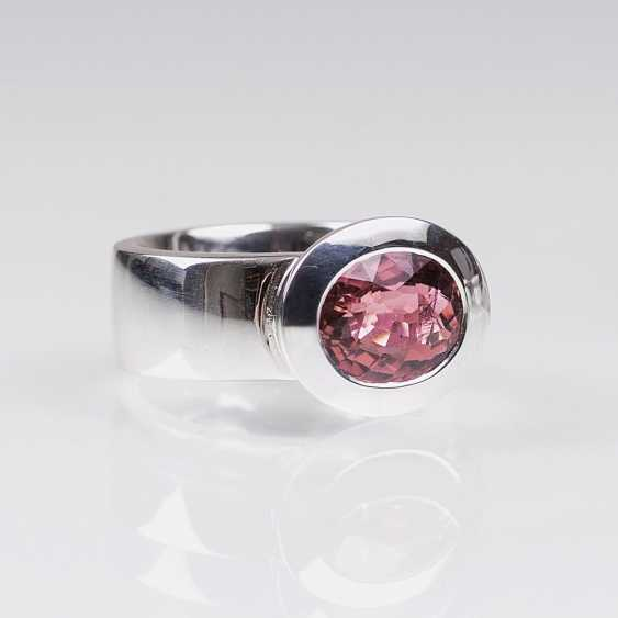 Moderner Rosa-Turmalin-Ring - photo 1