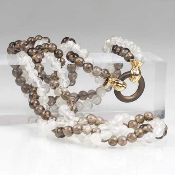 Modern Moon Stone-Smoky Quartz Necklace - photo 1