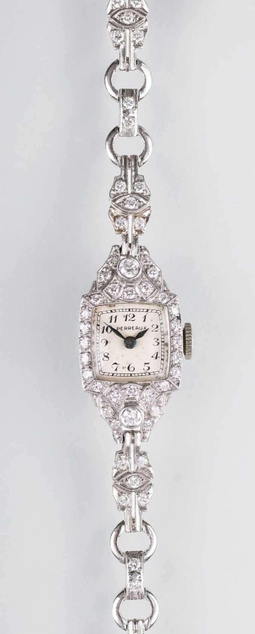 Art-Deco ladies ' wrist watch with diamonds - photo 1