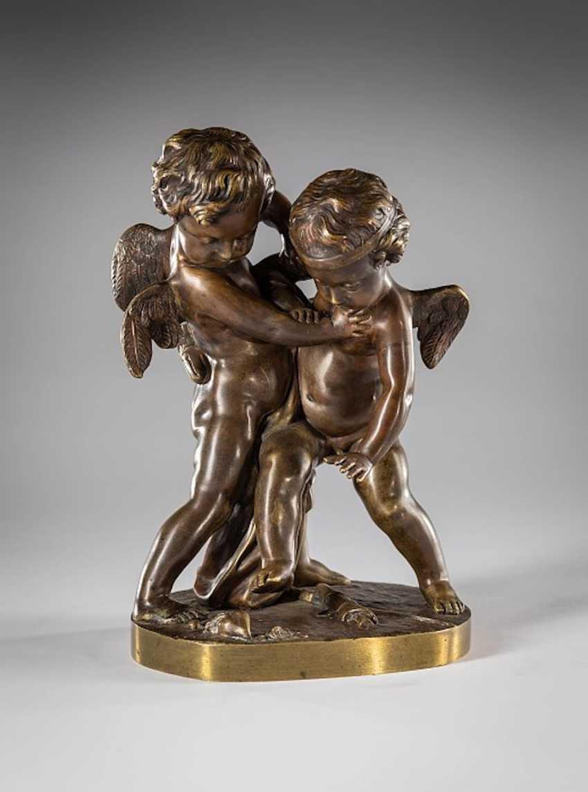 Bronze Amorettenpaar - photo 1