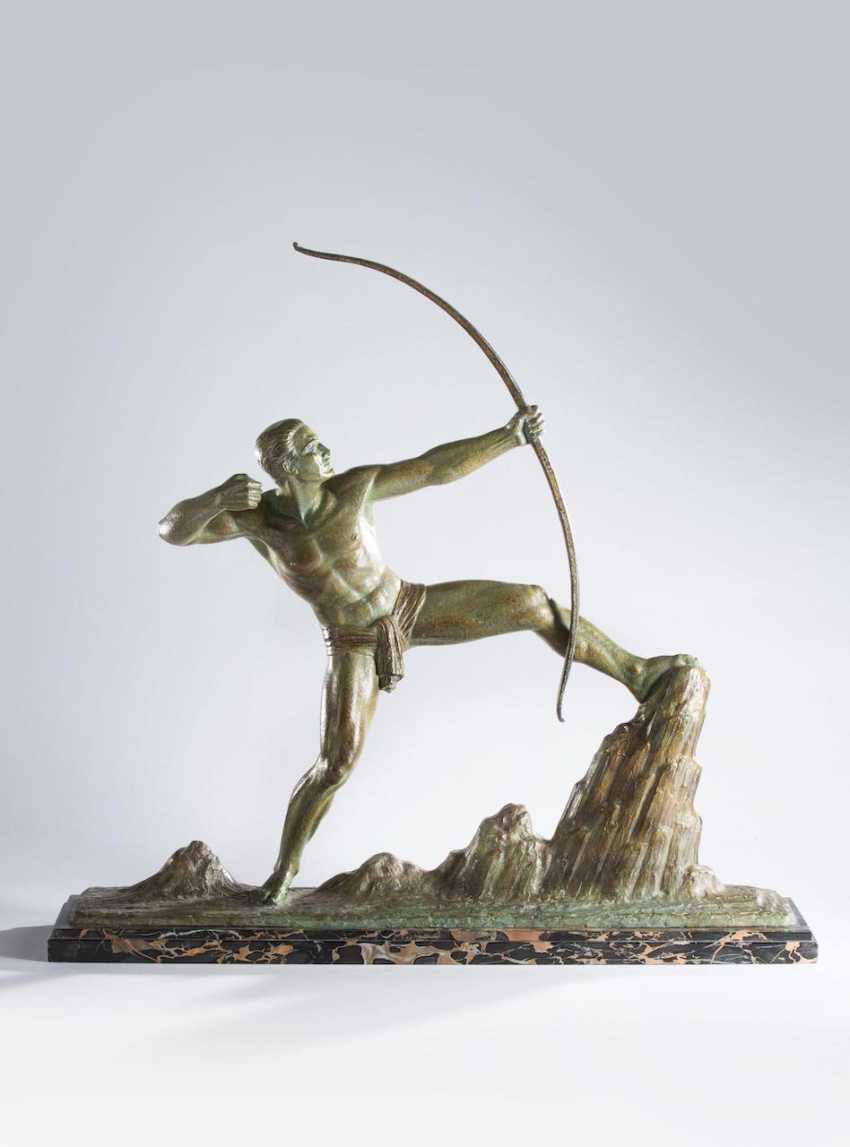"""Large Art Nouveau Figure Of """"The Archer"""", - photo 1"""
