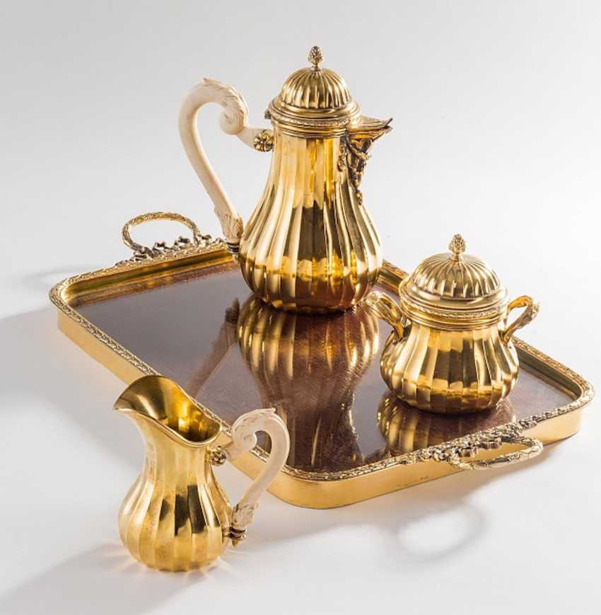 Vermeil Coffee Set, - photo 1