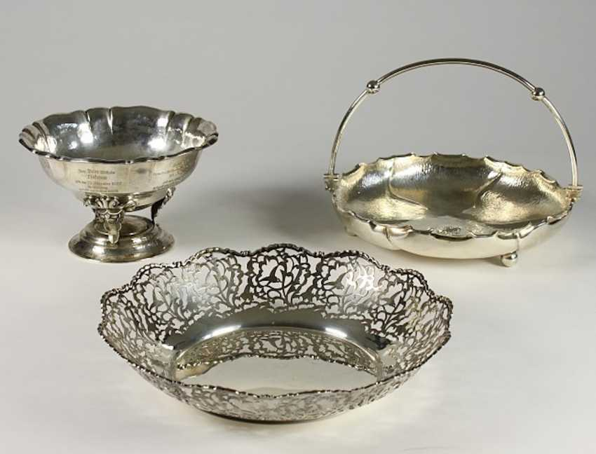 2 trays and 1 basket-silver. - photo 1