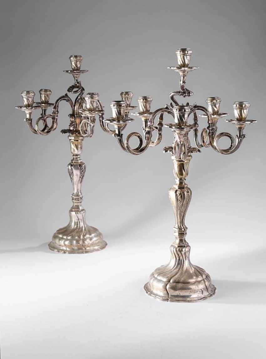 Pair of magnificent candelabra, - photo 1