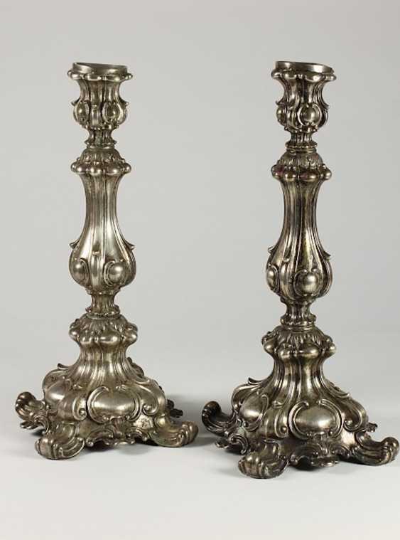 Pair of single tube chandelier, - photo 1