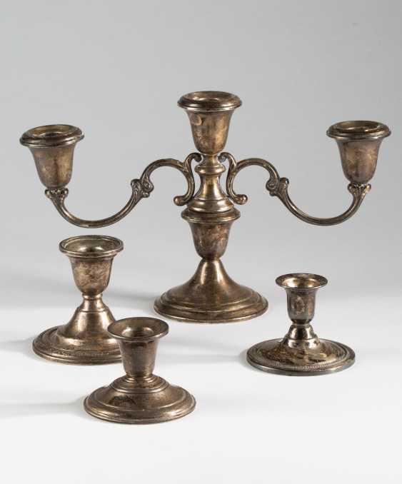 4 candlesticks, - photo 1